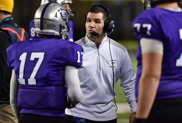 St. Thomas has won 118 games in Glenn Caruso's 11 years with the school. (AP Photo/Michael Shroyer)