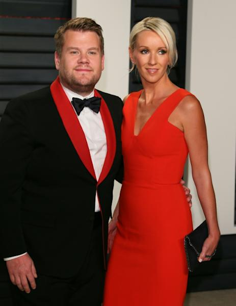 James Corden and his wife, actress Julia Carey, arrive to the Vanity Fair Party following the 88th Academy Awards, at The Wallis Annenberg Center for the Performing Arts in Beverly Hills, California, on February 26, 2017