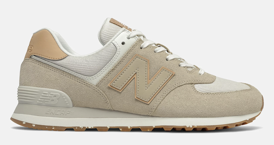 The lateral side of the New Balance 574. - Credit: Courtesy of New Balance