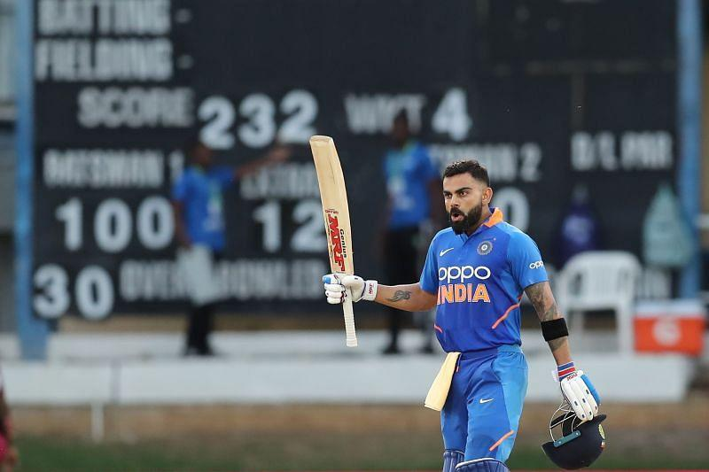Virat Kohli smashed his 43rd ODI hundred last year against the West Indies in Trinidad