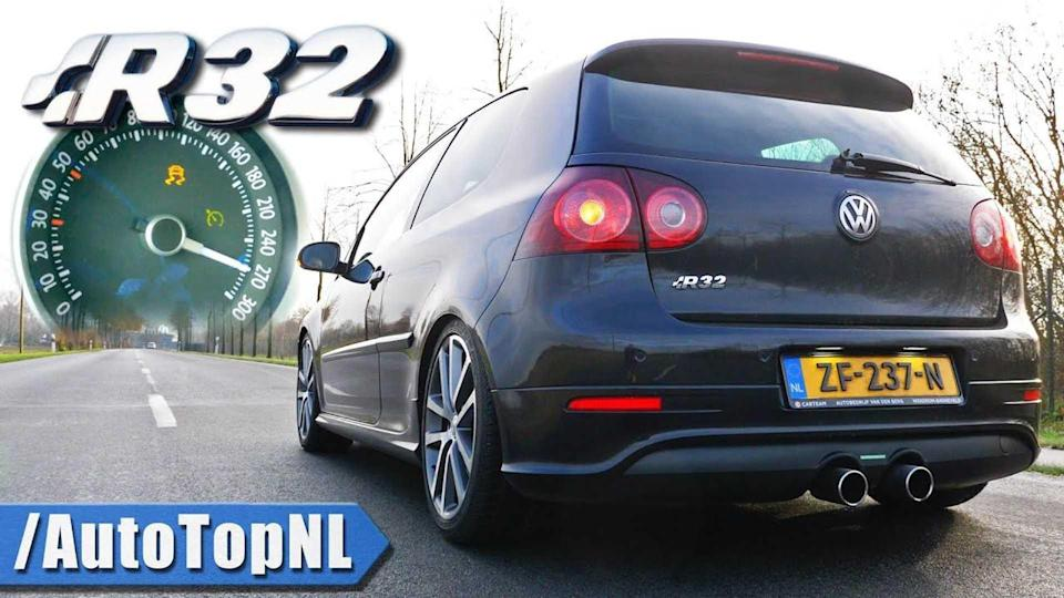 Watch A 186,000-Mile VW Golf R32 Hit 153 MPH, But The Speedo Is All Wrong