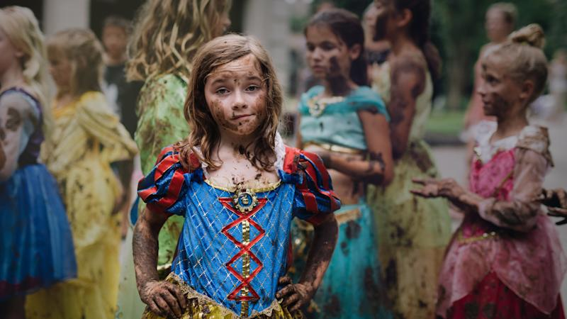 Photographer Kate Parker captured this photo of her daughter dressed as Snow White and covered in mud. (Kate Parker)