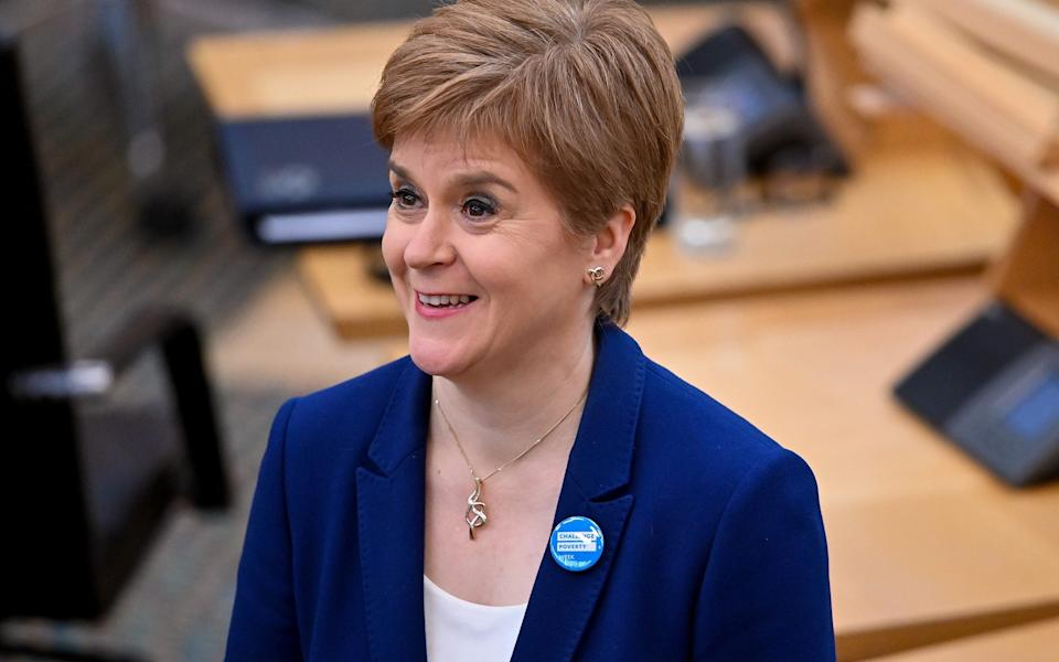 One of Nicola Sturgeon's advisers was concerned about Marks and Spencer using the Union flag on its packaging - Getty Images Europe