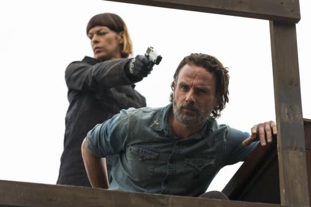 Pollyanna McIntosh as Jadis and Andrew Lincoln as Rick in <i>The Walking Dead</i>. (Photo: AMC)