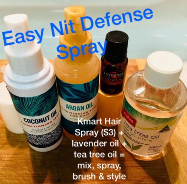 Other parents have suggested a daily preventative spray of lavender and tea tree oil. Photo: Facebook