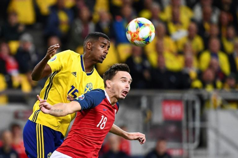 Big shoes to fill: Alexander Isak (left)will lead Sweden's attack in the absence of Zlatan Ibrahimovic