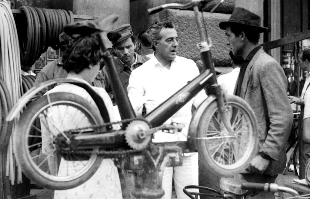 """<a href=""""http://movies.yahoo.com/movie/the-bicycle-thief/"""">THE BICYCLE THIEF</a> (1948) <br>Directed by: <span>Vittorio De Sica</span> <br>Starring: <span>Lamberto Maggiorani</span>, <span>Enzo Staiola</span> and <span>Elena Altieri</span>"""