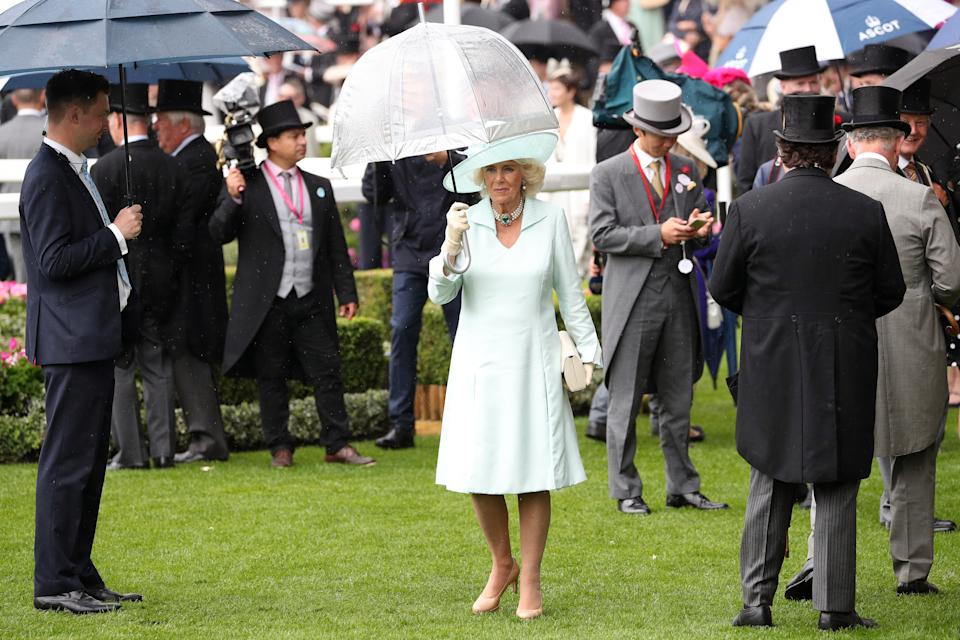The Duchess of Cornwall during day two of Royal Ascot at Ascot Racecourse.