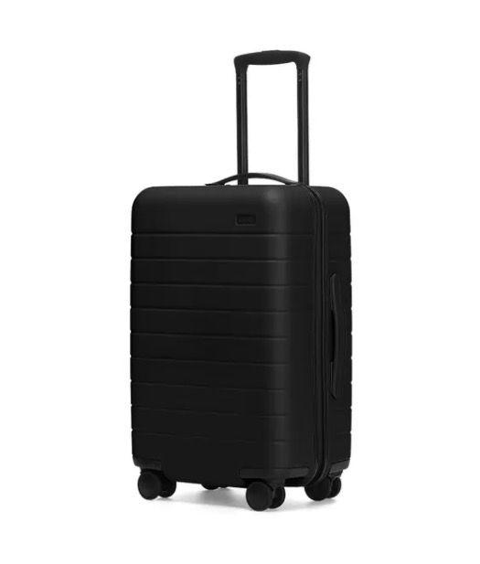 "<p>Perhaps one of their best-known and most-loved pieces, Away's Carry-On suitcase is sized to fit in the overhead bin of most major airlines, and is compact enough for train and car trips alike.</p><p> With a durable polycarbonate hard shell and 360° spinner wheels that ensure a smooth ride, this suitcase is built to last. Plus, its interior compression system and hidden laundry bag make packing that much easier.</p><p>For travellers who want to stay connected while on the go, this Carry-On suitcase comes with a removable battery that can charge your phone up to 4x, and is safe to fly with.</p><p><a class=""body-btn-link"" href=""https://go.redirectingat.com?id=127X1599956&url=https%3A%2F%2Fwww.awaytravel.com%2Fuk%2Fen%2Fsuitcases%2Fcarry-on%2Fblack&sref=https%3A%2F%2Fwww.redonline.co.uk%2Ftravel%2Finspiration%2Fg33947117%2Faway-luggage-sale%2F"" target=""_blank"">SHOP HERE</a> <strong>Was £225, Now £112.50</strong></p>"