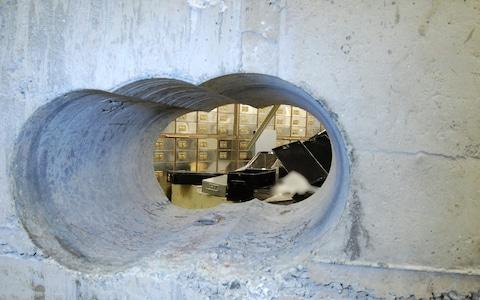 Thieves used a heavy duty drill to bore holes into the vault wall at Hatton Garden