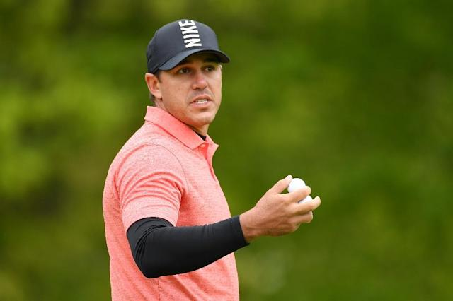 Defending champion Brooks Koepka watches during a practice round ahead of Thursday's start to the 101st PGA Championship at Bethpage Black (AFP Photo/STUART FRANKLIN)