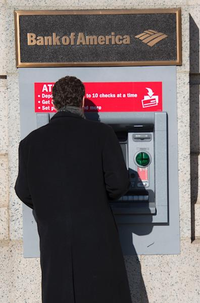 US banking giants Wells Fargo, Bank of America and Chase are in the process of deploying the new ATMs, as are a number of regional banks (AFP Photo/Jim Watson)
