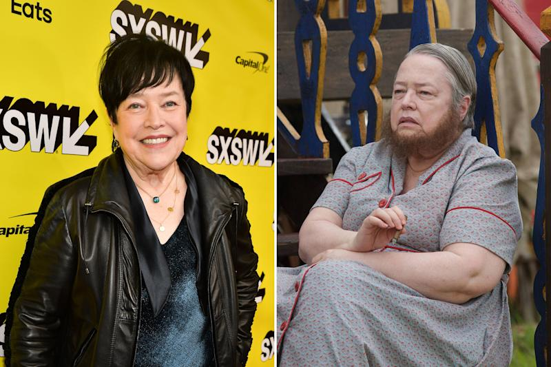 Perhaps less notable than her accent from this season, but a beard on Kathy Bates is still a beard on Kathy Bates. Photos courtesy of Getty Images and Everett Collection.