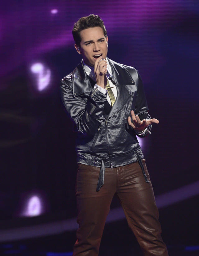 "Lazaro Arbos performs Jean DuShon's ""For Once in My Life"" on the Wednesday, March 27 episode of ""American Idol."""
