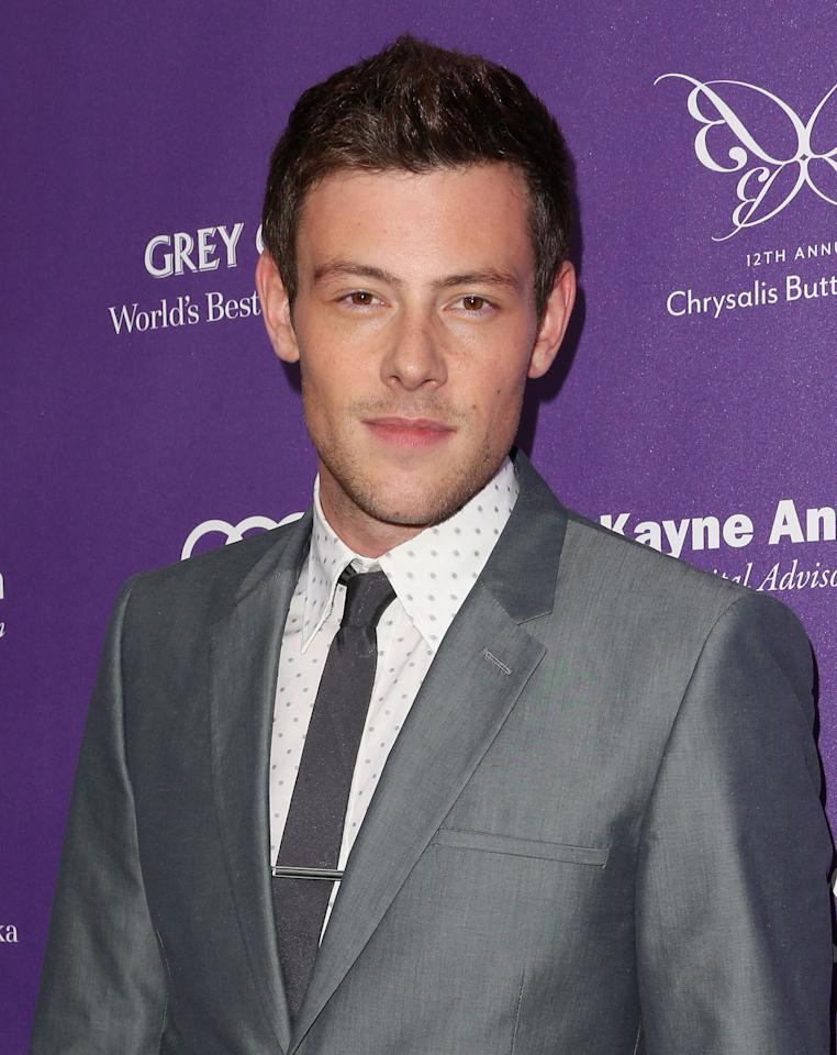 LOS ANGELES, CA - JUNE 08: Actor Cory Monteith attends the 12th Annual Chrysalis Butterfly Ball on June 8, 2013 in Los Angeles, California. (Photo by Frederick M. Brown/Getty Images)