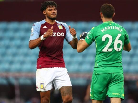 Aston Villa's Tyrone Mings and Emi Martinez (Getty Images)