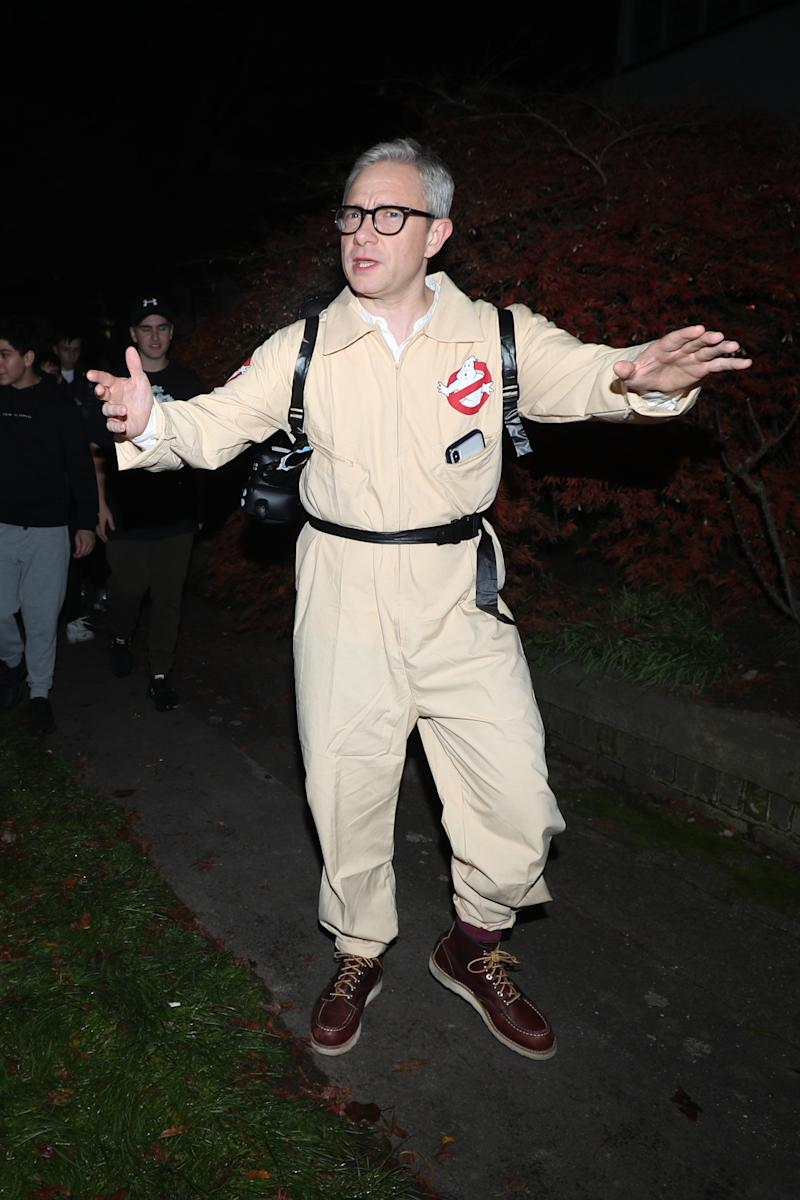 Martin Freeman arrives at a Halloween party hosted by Jonathan Ross at his house in north London. (Yui Mok/PA Images via Getty Images)