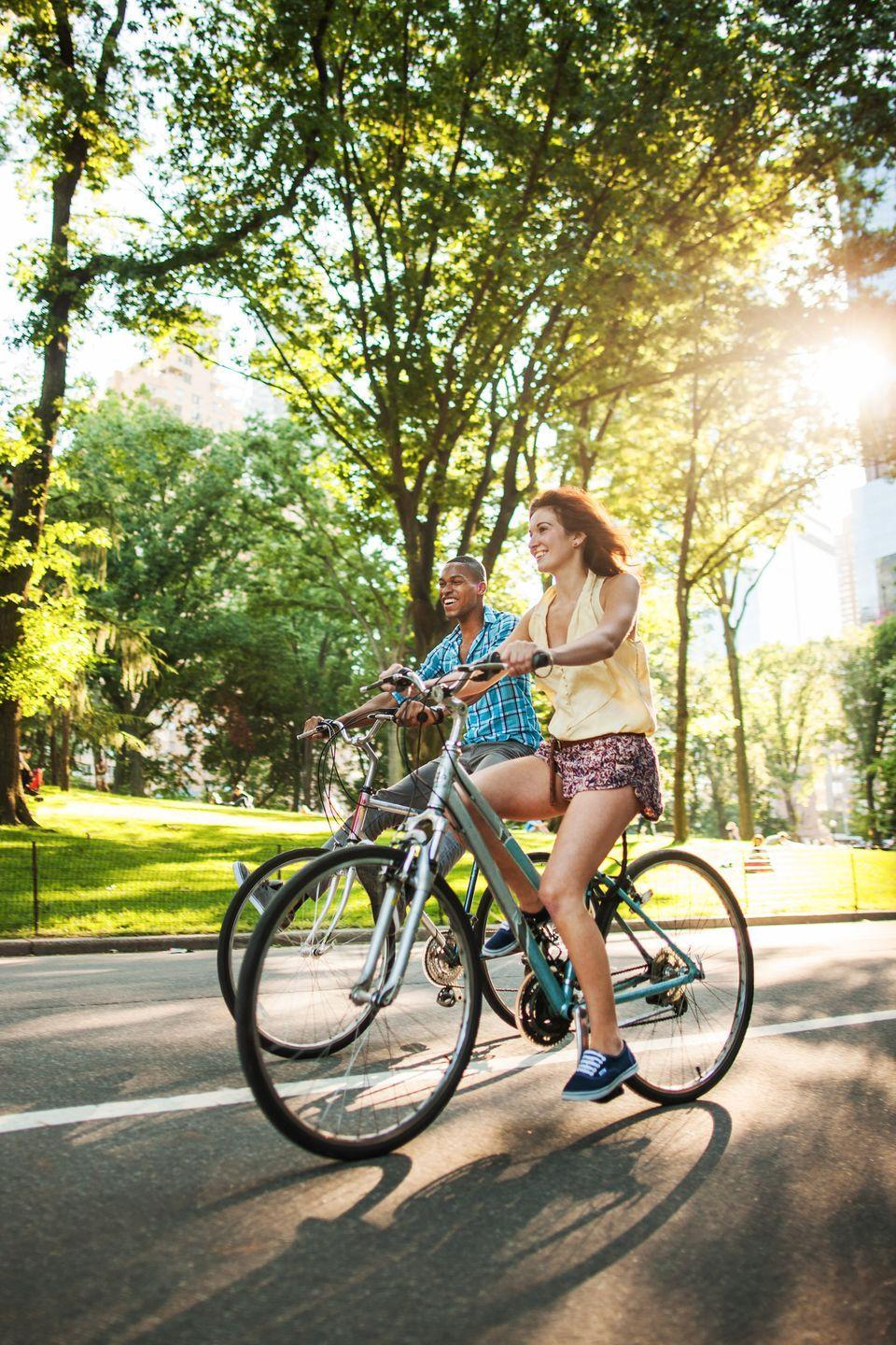 """<p>Travel throughout your hometown via bikes for the day, stopping off for lunch and exploring areas you haven't been to before.</p><p><a class=""""link rapid-noclick-resp"""" href=""""https://www.amazon.com/Zacro-Cover-BS031-Extra-Bicycle/dp/B01H71AZ36/?tag=syn-yahoo-20&ascsubtag=%5Bartid%7C10050.g.805%5Bsrc%7Cyahoo-us"""" rel=""""nofollow noopener"""" target=""""_blank"""" data-ylk=""""slk:SHOP BIKE SEAT COVERS"""">SHOP BIKE SEAT COVERS</a></p>"""
