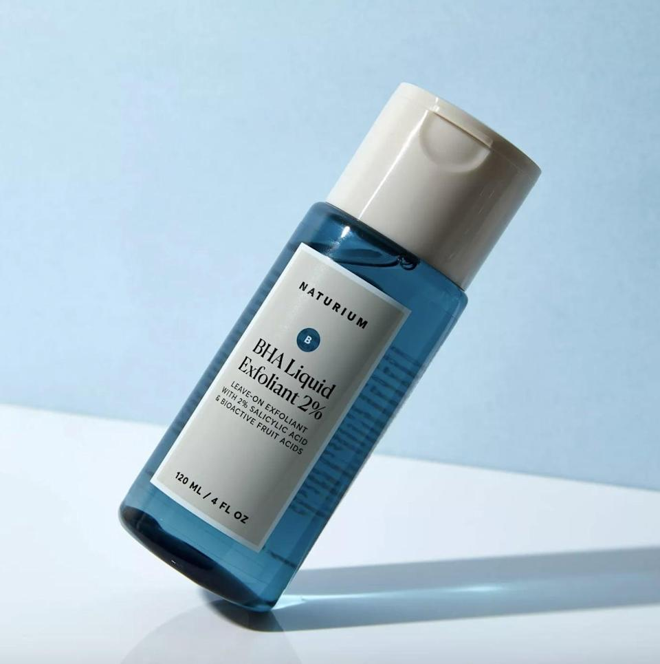 <p>The <span>Naturium BHA 2% Liquid</span> ($20) came to the rescue for my hormonal breakouts and maskne. It contains encapsulated salicylic acid and fruit acids that unclog pores and smooth skin. I felt a slight tingle on my skin while using a few drops of this at night on my active breakouts. It has the consistency of a thick toner that does not dry out your skin. I even used this on a few areas where I had ingrown hairs and it works beautifully to exfoliate gently.</p>