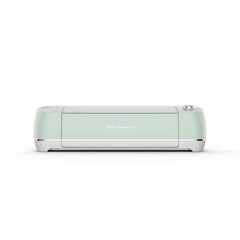 """<h3>Cricut Explore Air 2<br></h3><br>The beloved DIY machine is on sale, making it a no-brainer gift idea for the crafty mama in your life.<br><br><strong>Rating:</strong> 4.8 out of 5 stars, and 21,075 reviews<br><br><strong>A Satisfied Customer Review: </strong>""""My wife loves this thing and for that reason so did I. Seeing the pure joy in her eyes was rivaled only by things like our wedding day and our children's births. As time has gone by though I'm beginning to suspect that she loves it more than she loves me. She spends all her time with it and when she's not using it she's talking about it. When I came home from work the other day it was sitting in my chair at the dinner table. I was getting tired of it and tried to confront it but my dog started snarling at me. It's too late for me but you've been warned: this machine is a homewrecker.""""<br><br><strong>Cricut</strong> Explore Air 2, Mint, $, available at <a href=""""https://amzn.to/3gZuDVA"""" rel=""""nofollow noopener"""" target=""""_blank"""" data-ylk=""""slk:Amazon"""" class=""""link rapid-noclick-resp"""">Amazon</a>"""