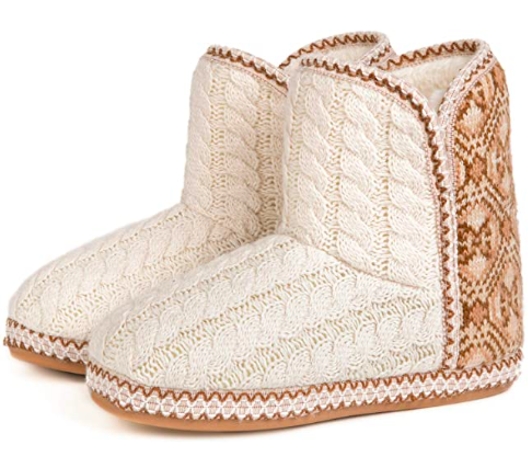 "<br><br><strong>Rock Dove</strong> Cable Knit Indoor Bootie, $, available at <a href=""https://www.amazon.com/RockDove-Womens-Cheyenne-Indoor-Slipper/dp/B07WKKVYPF/"" rel=""nofollow noopener"" target=""_blank"" data-ylk=""slk:Amazon"" class=""link rapid-noclick-resp"">Amazon</a>"
