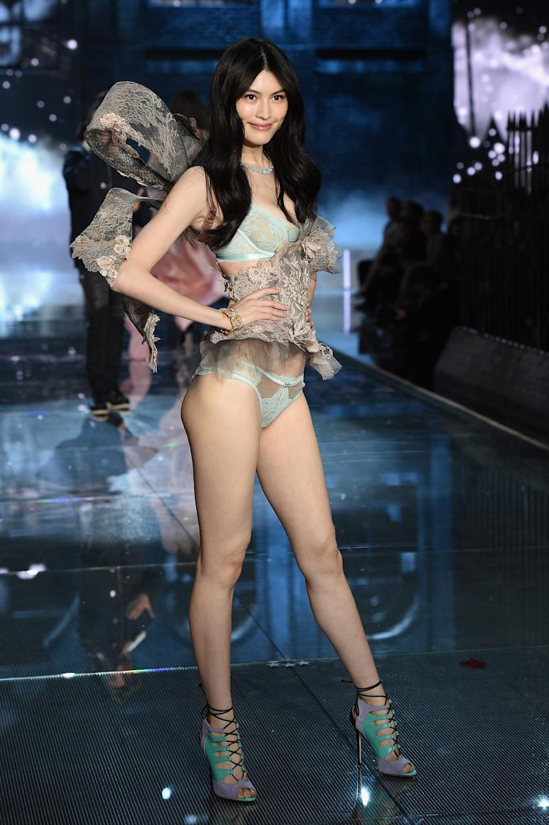 Sui He walks the runway during the 2015 Victoria's Secret Fashion Show in New York City. (Photo: Getty Images)