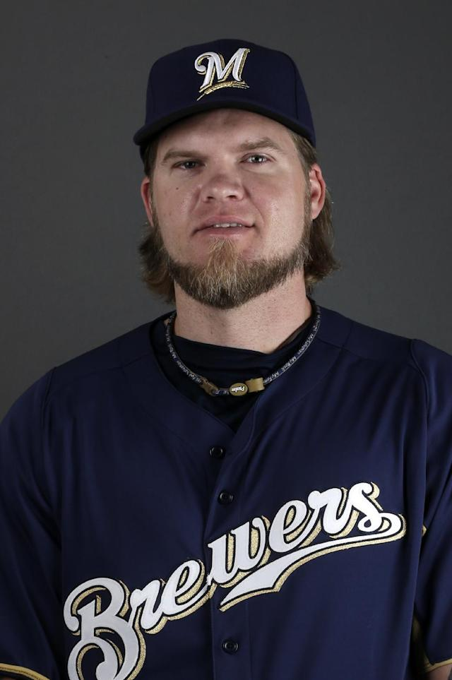 This is a 2013 photo of Corey Hart of the Milwaukee Brewers baseball team. This image reflects the Brewers active roster as of Sunday, Feb. 17, 2013. (AP Photo/Morry Gash)