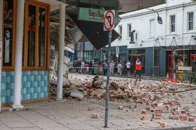 Buildings were damaged by the earthquake but there have not been any reports of serious injuries (Photo: Asanka Ratnayake via Getty Images)