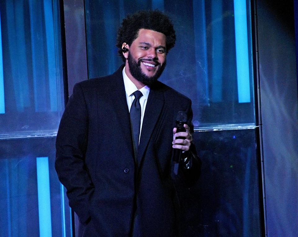 LOS ANGELES, CALIFORNIA - MAY 27: (EDITORIAL USE ONLY) In this image released on May 27, The Weeknd performs onstage at the 2021 iHeartRadio Music Awards at The Dolby Theatre in Los Angeles, California, which was broadcast live on FOX on May 27, 2021. (Photo by Kevin Mazur/Getty Images for iHeartMedia)