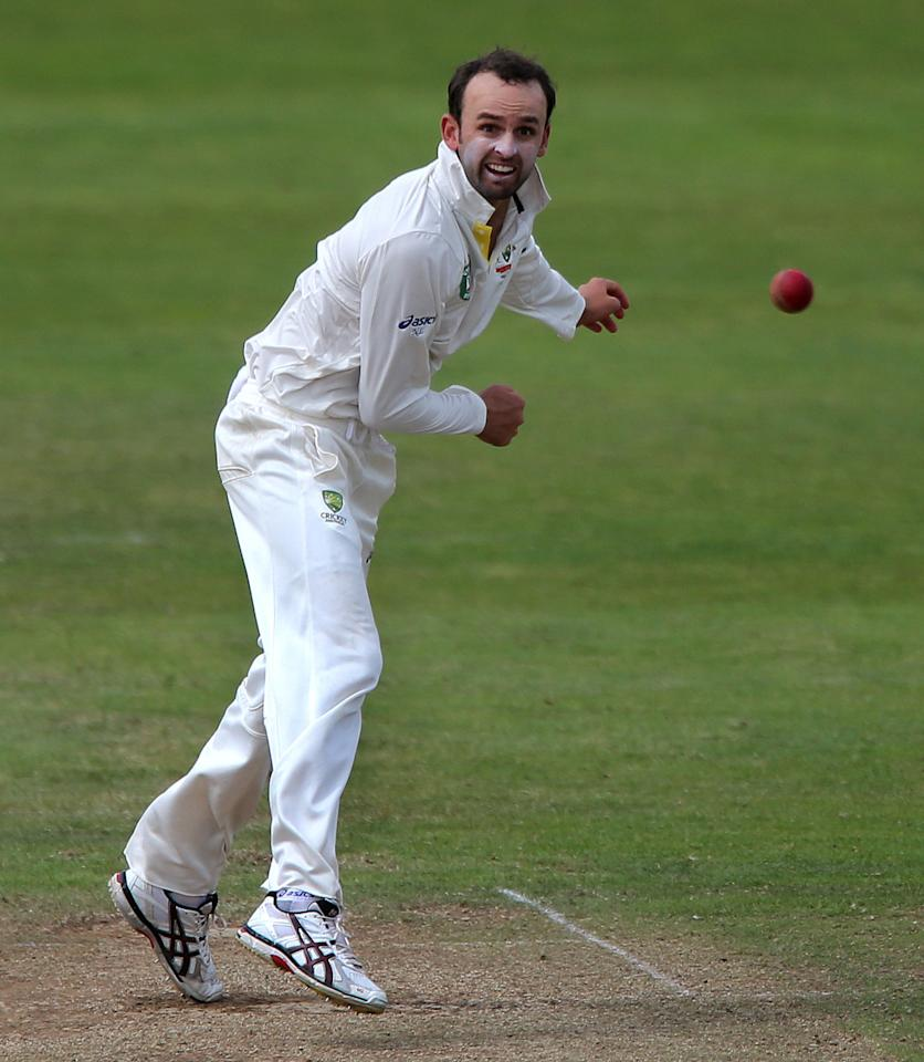 Australian spin bowler Nathan Lyon during the International Tour match at the County Ground, Taunton.