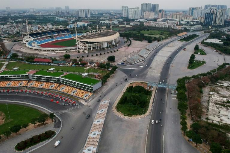 Officials said the Hanoi track was ready ahead of schedule