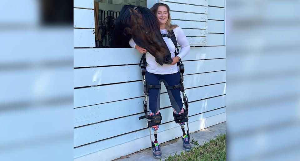 Bea de Lavalette had both her legs amputated after suffering injuries sustained during a terrorist attack in Brussels. She's now ready to compete in the Paralympic Games in Tokyo. (Photo courtesy of Elizabeth de Lavalette)