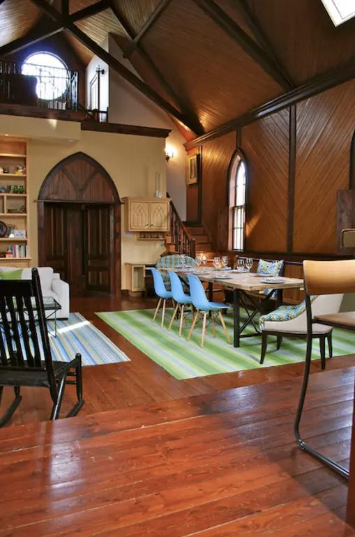 <p>The rustic home with high ceilings, wood floors and an elegant decor can be all yours for $181 a night. </p>