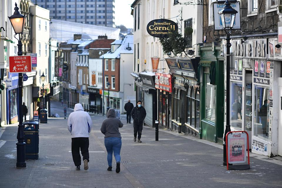 <p>Rishi Sunak said the scheme will 'ensure our high streets can open their doors with optimism'</p> (AFP/Getty)