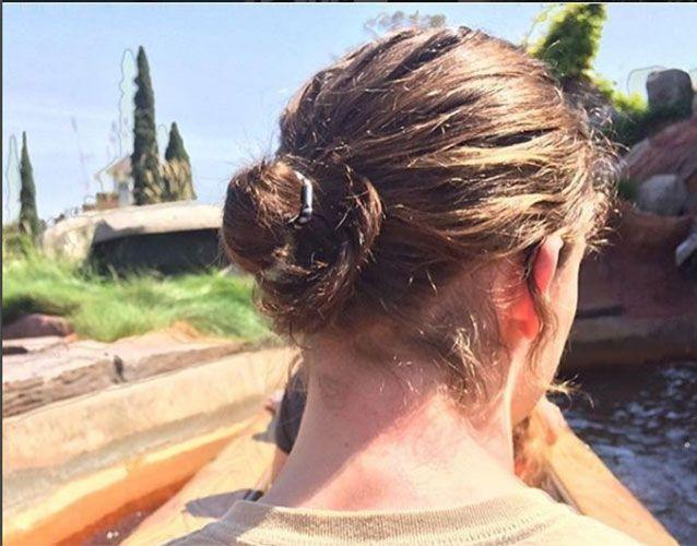 A classic man-bun: This is the controversial, long-hair pulled-back look that Mr Reeks is fighting for. Photo: Instagram/@manbunsofdisneyland