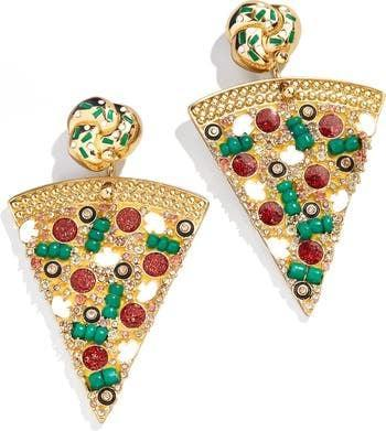 <p>These <span>BaubleBar Pizza Drop Earrings</span> ($54) are perfect for the ones who love to accessorize. They can rep their love for pizza in the most fashionable way.</p>