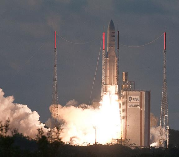 European Rocket Launches New US Satellite, Weather-Tracking Spacecraft
