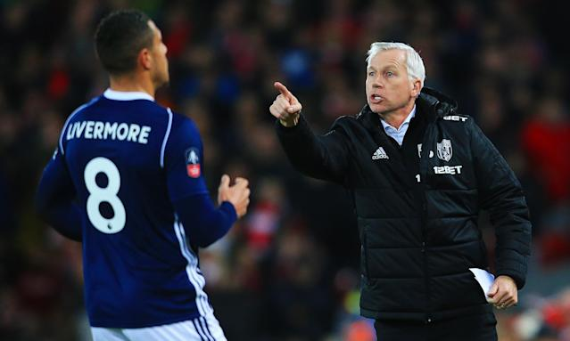 Alan Pardew has one win from 13 Premier League games as West Brom's manager.