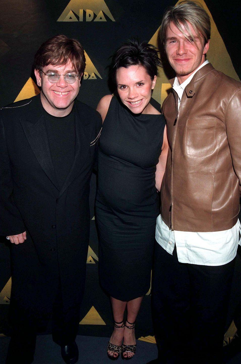 "<p>Victoria Beckham barely had to change her ""Posh Spice"" look while pregnant in 1999.</p>"
