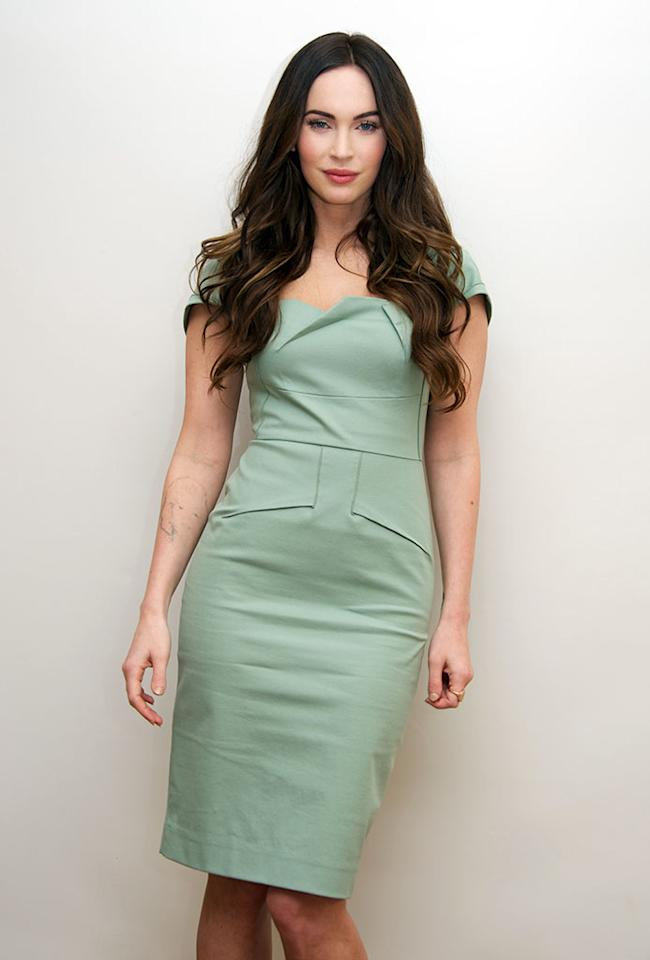 "Megan Fox at the ""This Is 40"" Press Conference at the Beverly Wilshire Four Seasons Hotel on November 28, 2012 in Beverly Hills, California."