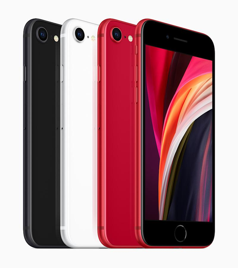 The three new colours: black, white and (Product)Red. (PHOTO: Apple)