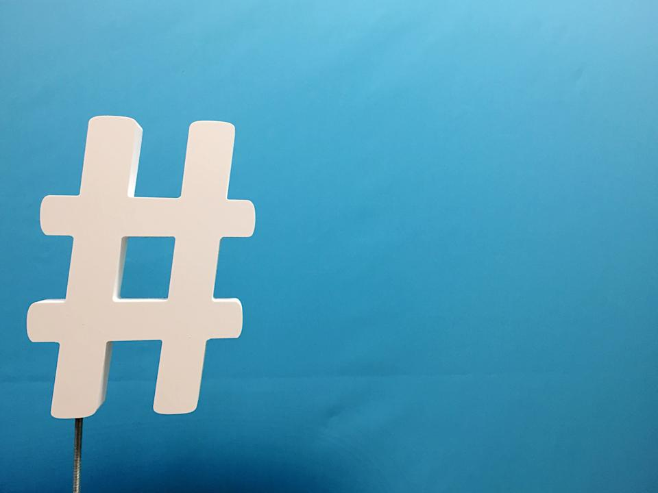 The history of the hashtag is an odd one. (Getty)