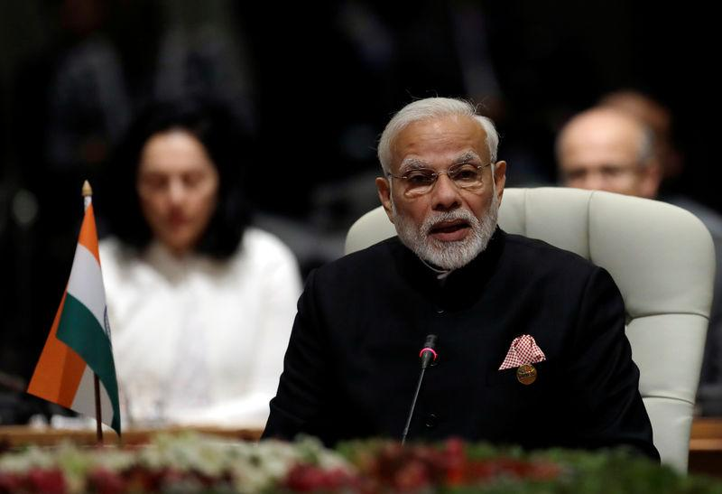 Indian Prime Minister Narendra Modi speaks during the BRICS Summit in Johannesburg