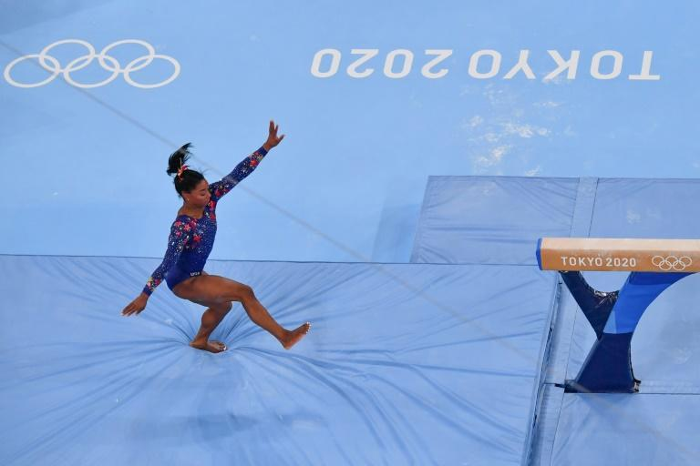 Biles kept the wheels on her record gold rush pursuit - but only just