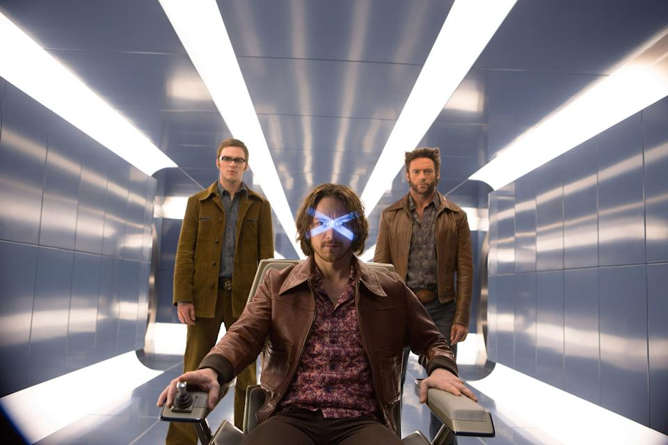 Nicolas Hoult, James McAvoy and Hugh Jackman in 'X-Men: Days of Future Past' (Photo: Alan Markfield/TM & copyright ©20th Century Fox Film Corp. All rights reserved/courtesy Everett Collection)