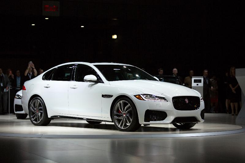 Jaguar unveiled its XF saloon at the New York International Auto Show in April 2015