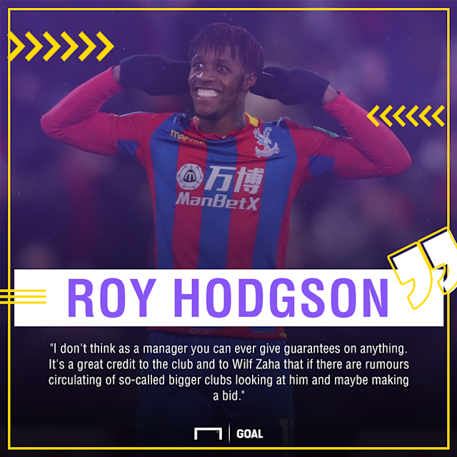 The Ivory Coast international has inspired Crystal Palace's rise up the Premier League table, but Roy Hodgson is not sure he can keep the forward