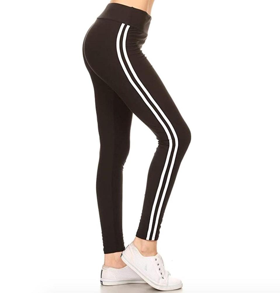 """<p><strong>Reviews & rating:</strong> 21,485 reviews, 4.4 out of 5 stars.</p> <p><strong>Key selling points:</strong> These high-stretch leggings are another Leggings Depot gem. They're just $10 and while some customers point out that the lighter colors aren't always squat-proof, these leggings are generally lauded for their comfort and true-to-size fit.</p> <p><strong>What customers say:</strong> """"These leggings are incredibly soft and stretchy! They aren't messing around with the high waist — they hit above the smallest part of my waist when pulled up all the way, which I love. When stretched, they do get slightly see-through so make sure you're wearing something underneath that matches or won't be detected. But overall, the leggings are incredible and I can see myself purchasing more in the future."""" —<a href=""""https://amzn.to/3dm7nib"""" rel=""""nofollow noopener"""" target=""""_blank"""" data-ylk=""""slk:Onius"""" class=""""link rapid-noclick-resp""""><em>Onius</em></a><em>, reviewer on Amazon</em></p> $10, Amazon. <a href=""""https://www.amazon.com/LYX128-BLACK2-Yoga-Solid-Leggings-Plus/dp/B074PCMQY2/ref="""" rel=""""nofollow noopener"""" target=""""_blank"""" data-ylk=""""slk:Get it now!"""" class=""""link rapid-noclick-resp"""">Get it now!</a>"""