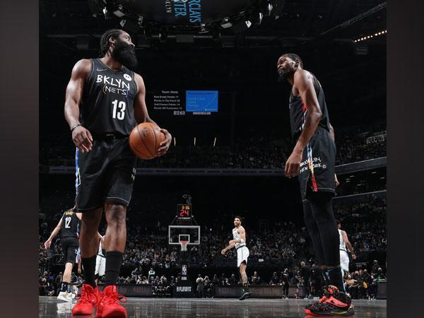 James Harden and Kevin Durant (Photo: Twitter/BrooklynNets)