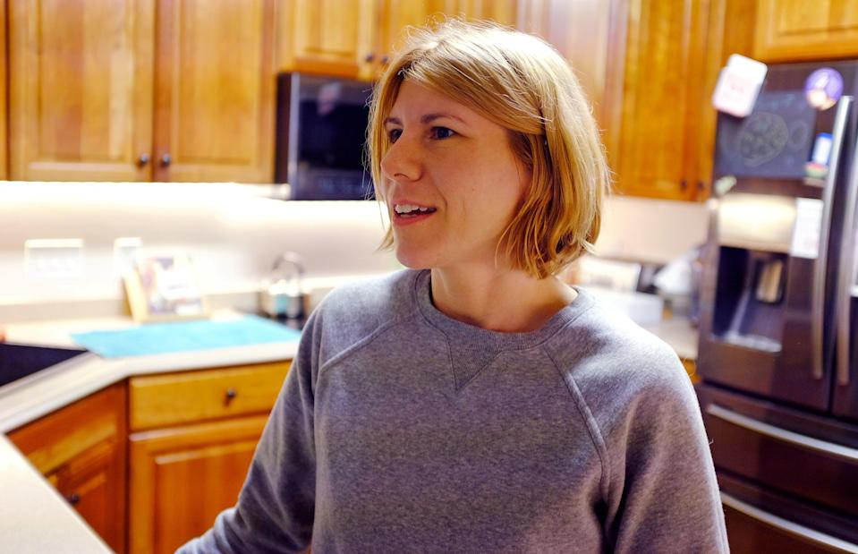 Lori Stroud is pictured in her home at an undisclosed location in the US, 27 September 2018 (REUTERS)